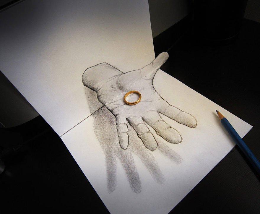 desenhos 3d papel lapis (10)