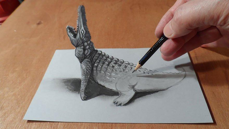 desenhos 3d papel lapis (11)