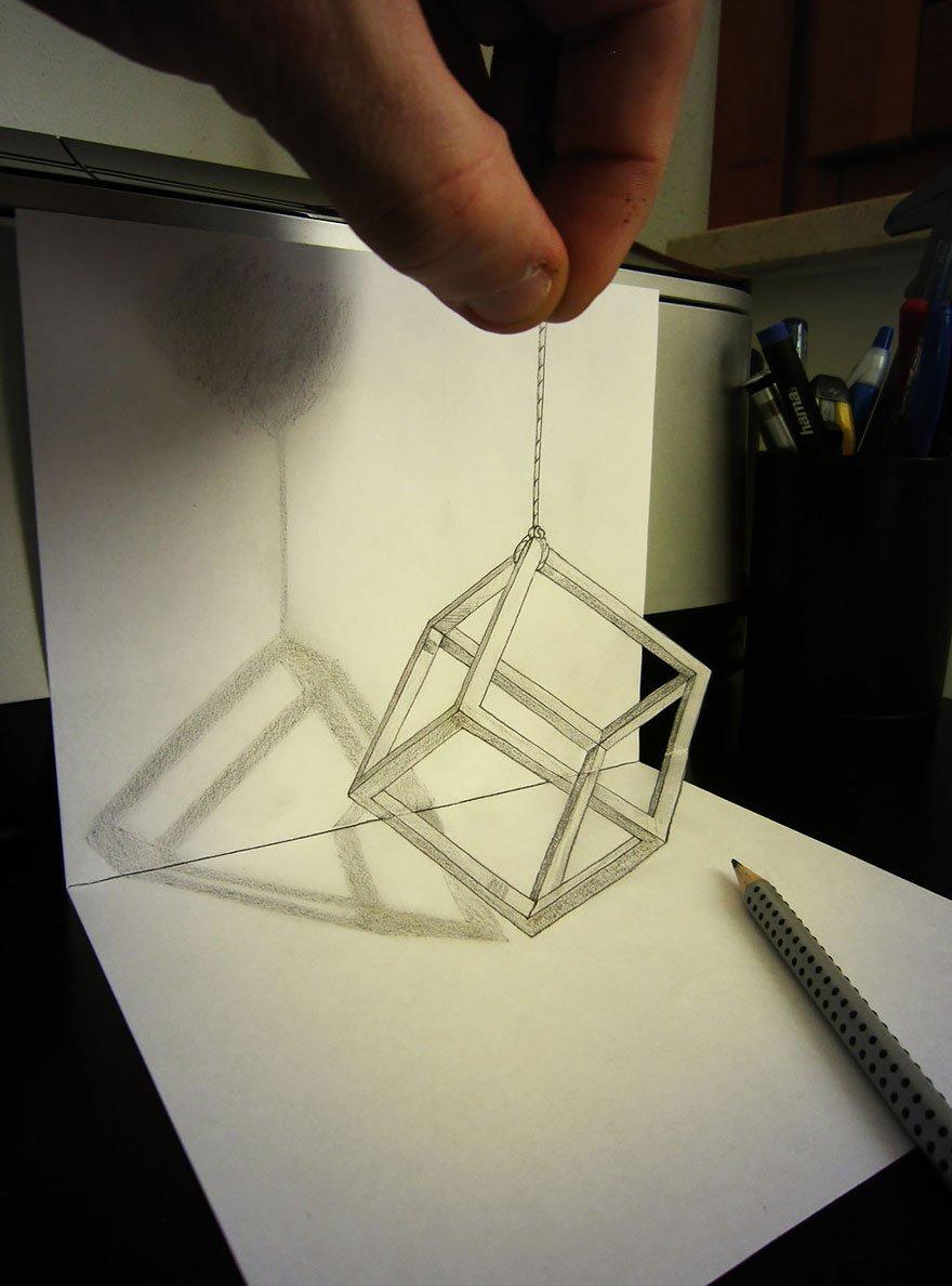 desenhos 3d papel lapis (13)