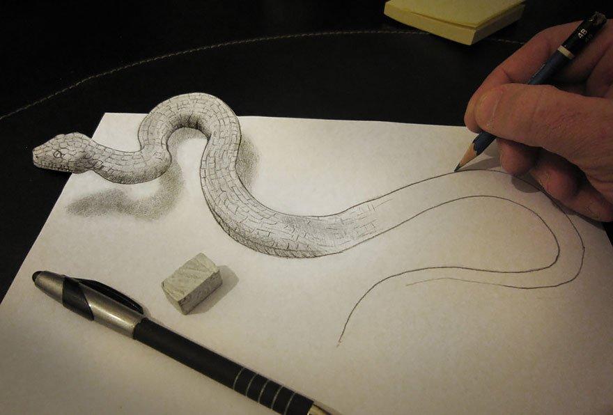 desenhos 3d papel lapis (16)