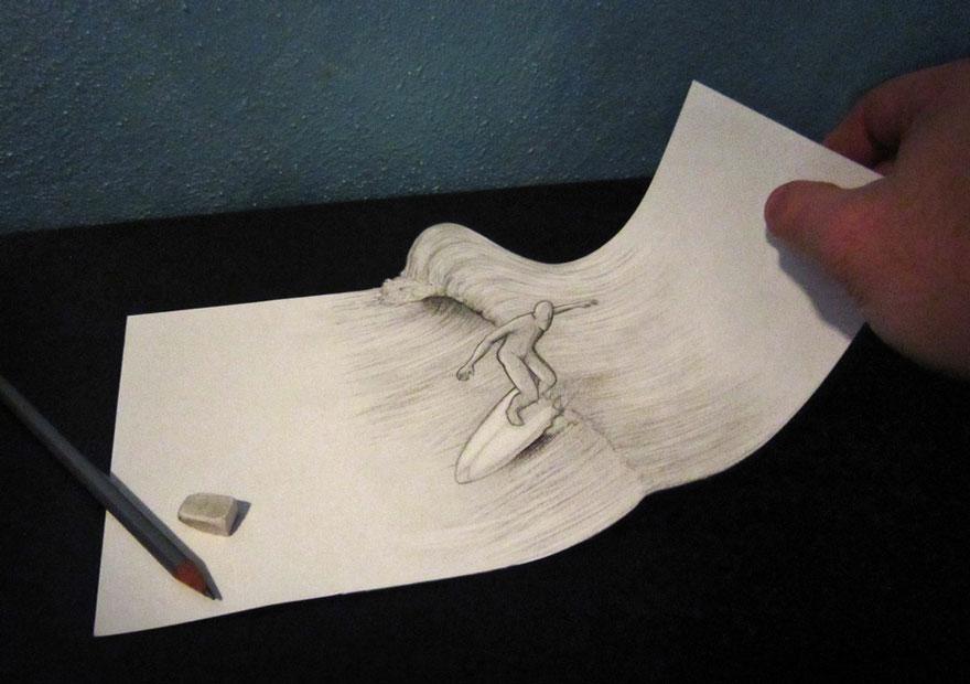 desenhos 3d papel lapis (17)
