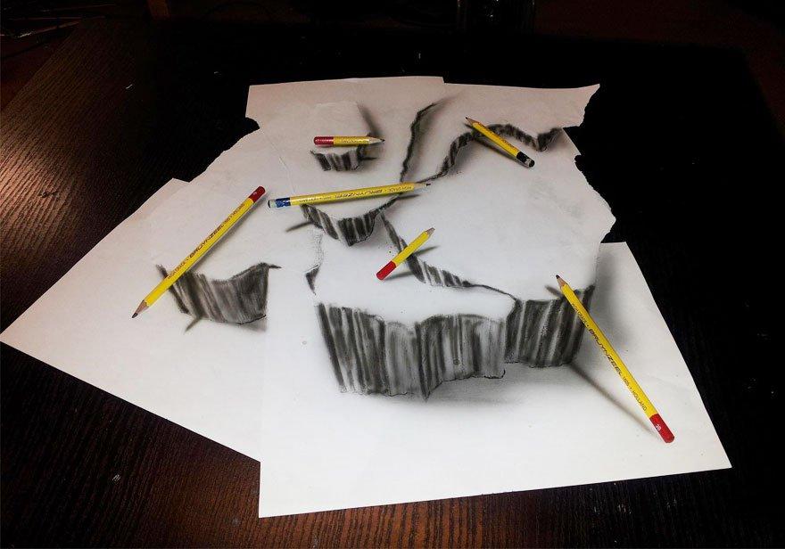 desenhos 3d papel lapis (20)