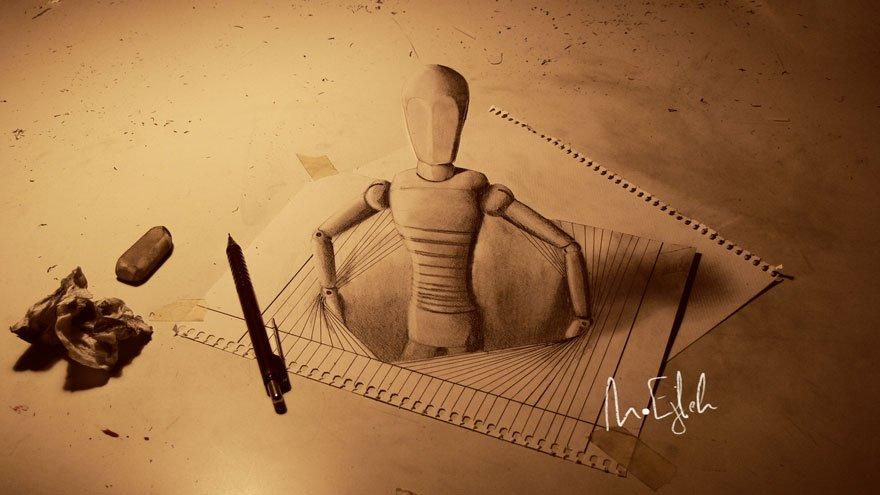 desenhos 3d papel lapis (21)