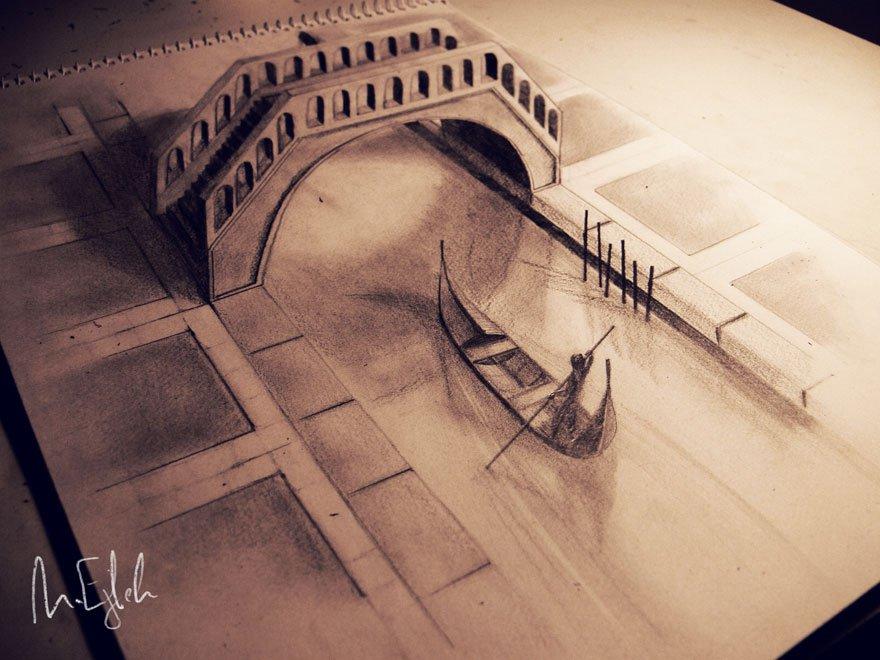 desenhos 3d papel lapis (3)