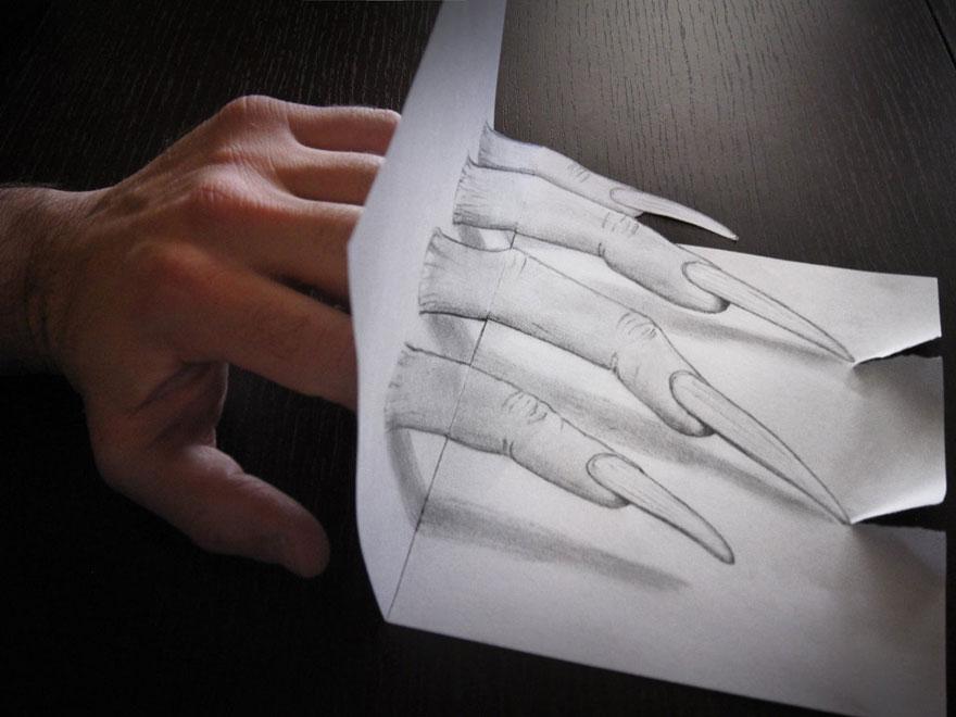 desenhos 3d papel lapis (5)