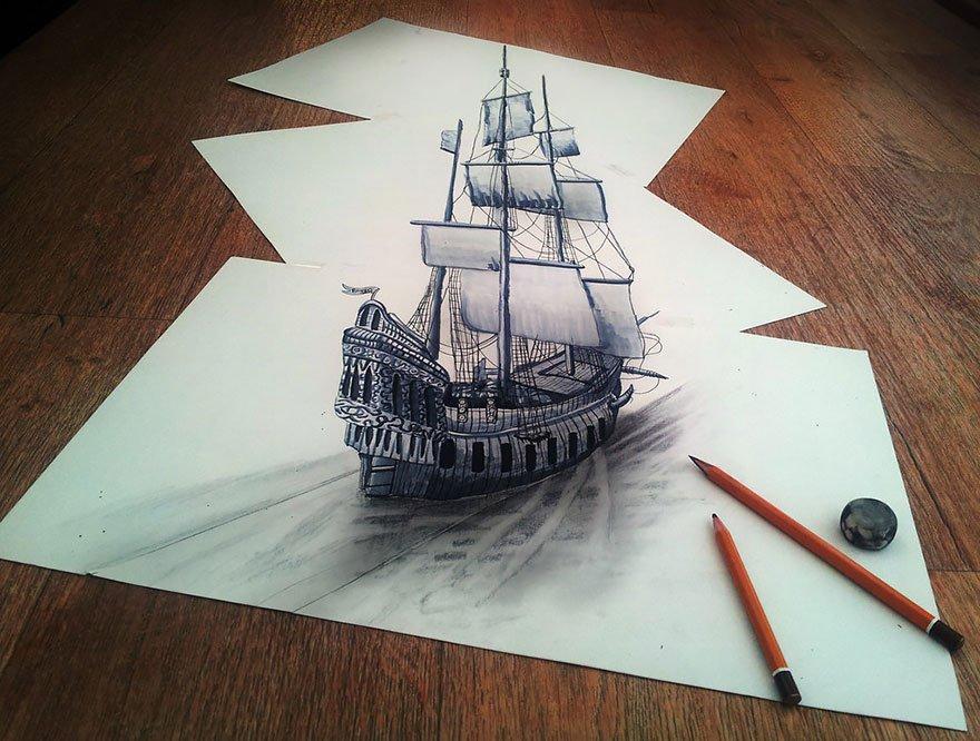 desenhos 3d papel lapis (6)