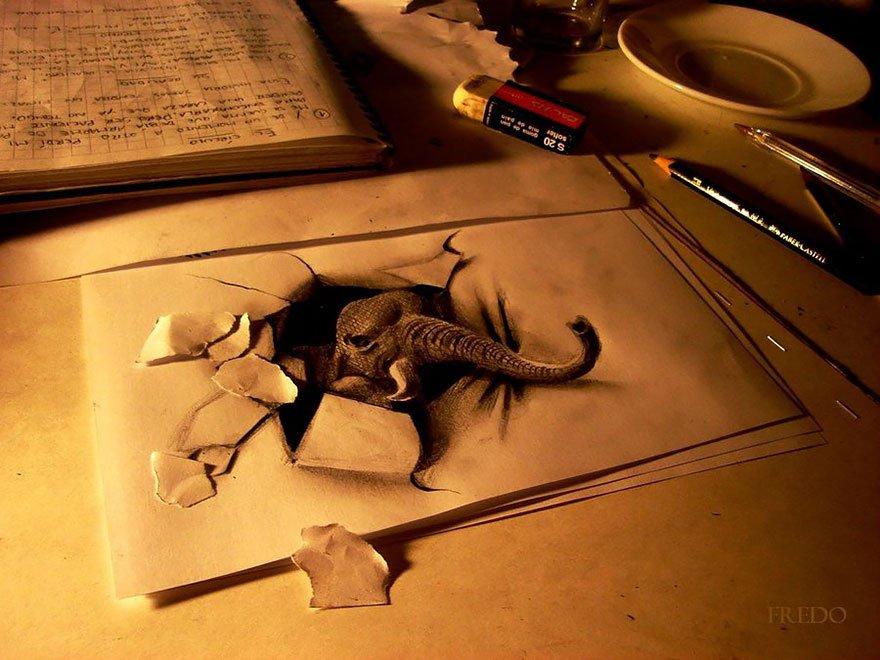 desenhos 3d papel lapis (7)