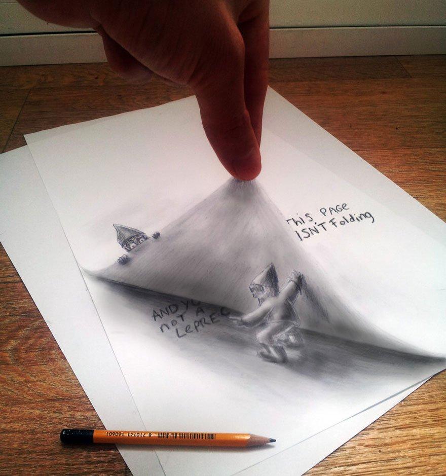 desenhos 3d papel lapis (9)