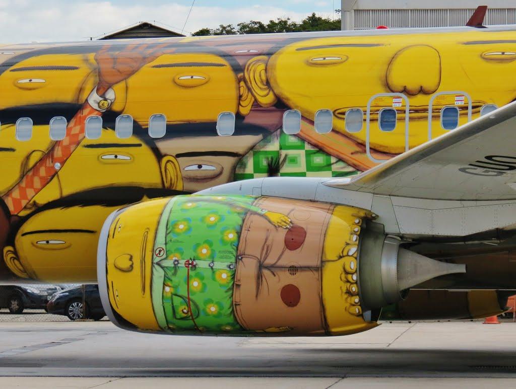 os gemeos graffiti aviao brasil selecao brasileira copa do mundo 2014 (2)