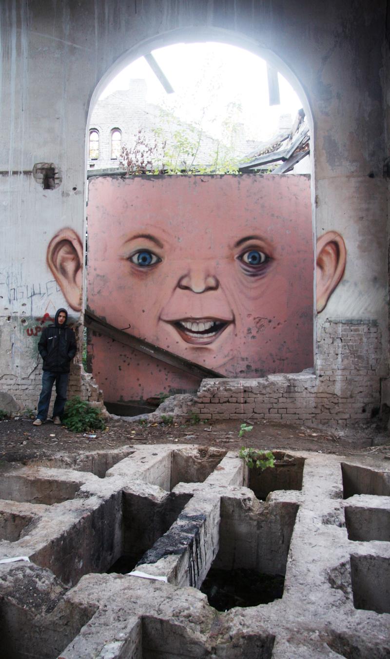 Nikita Nomerz graffiti arte de rua russo faces vida (20)