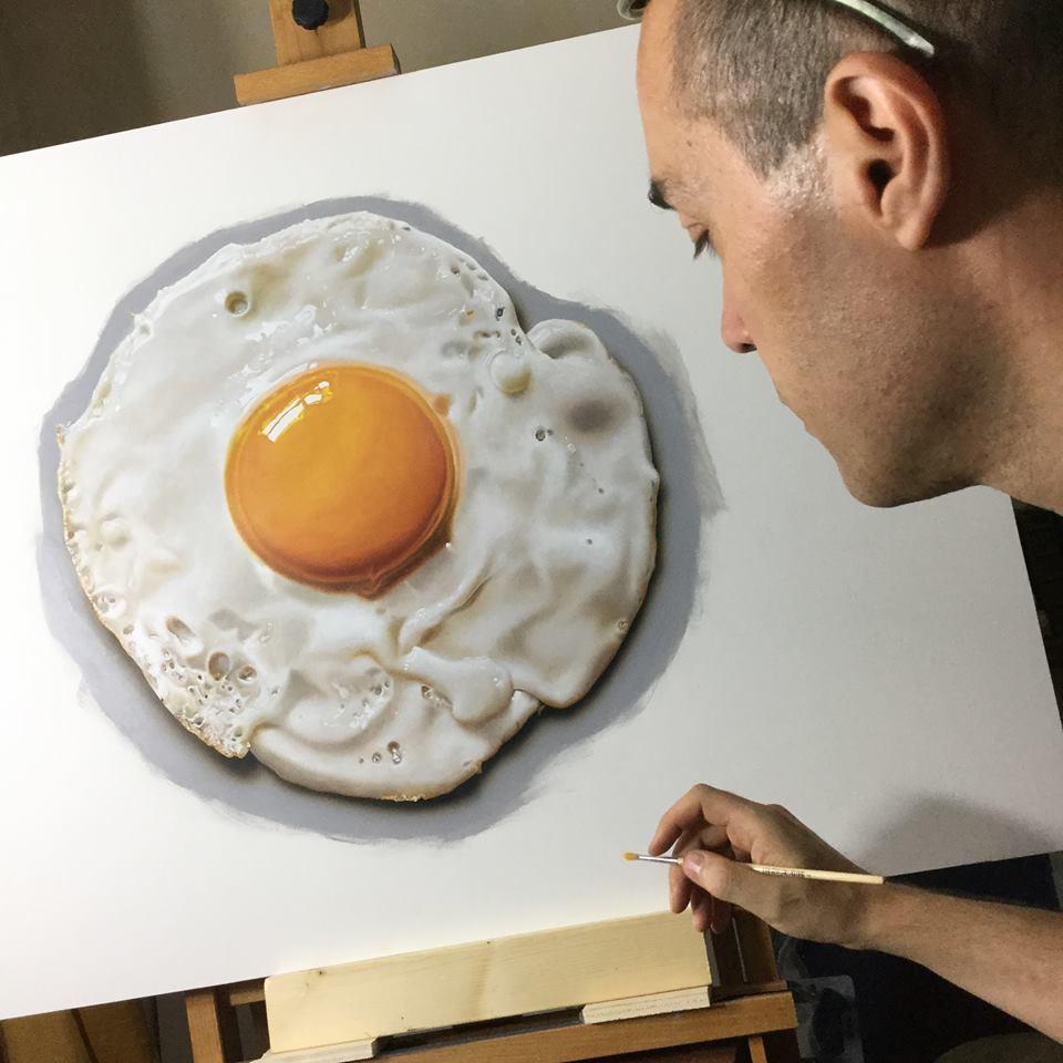 artista marcello Barenghi pintura desenho hiper realismo 3d (1)