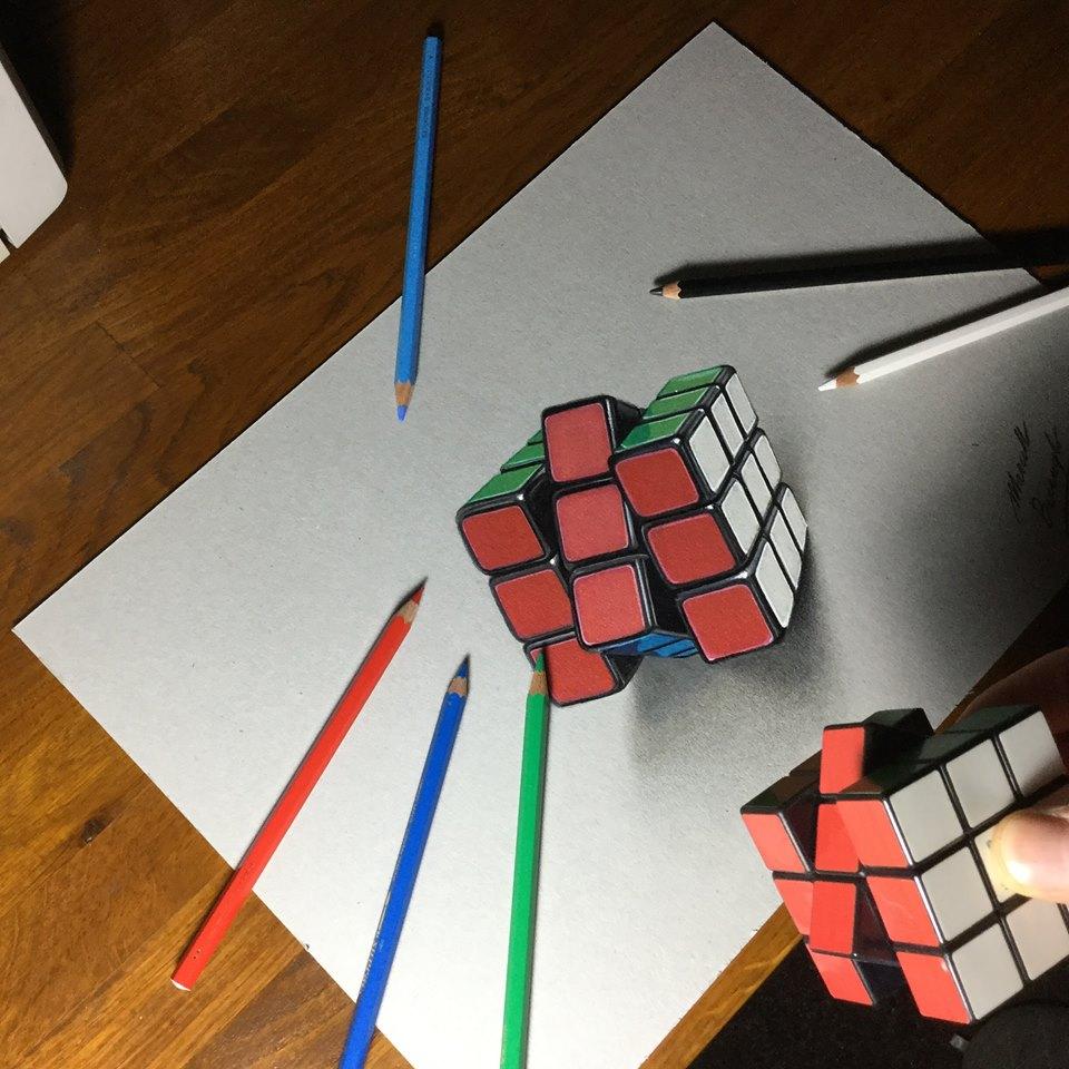 artista marcello Barenghi pintura desenho hiper realismo 3d (19)