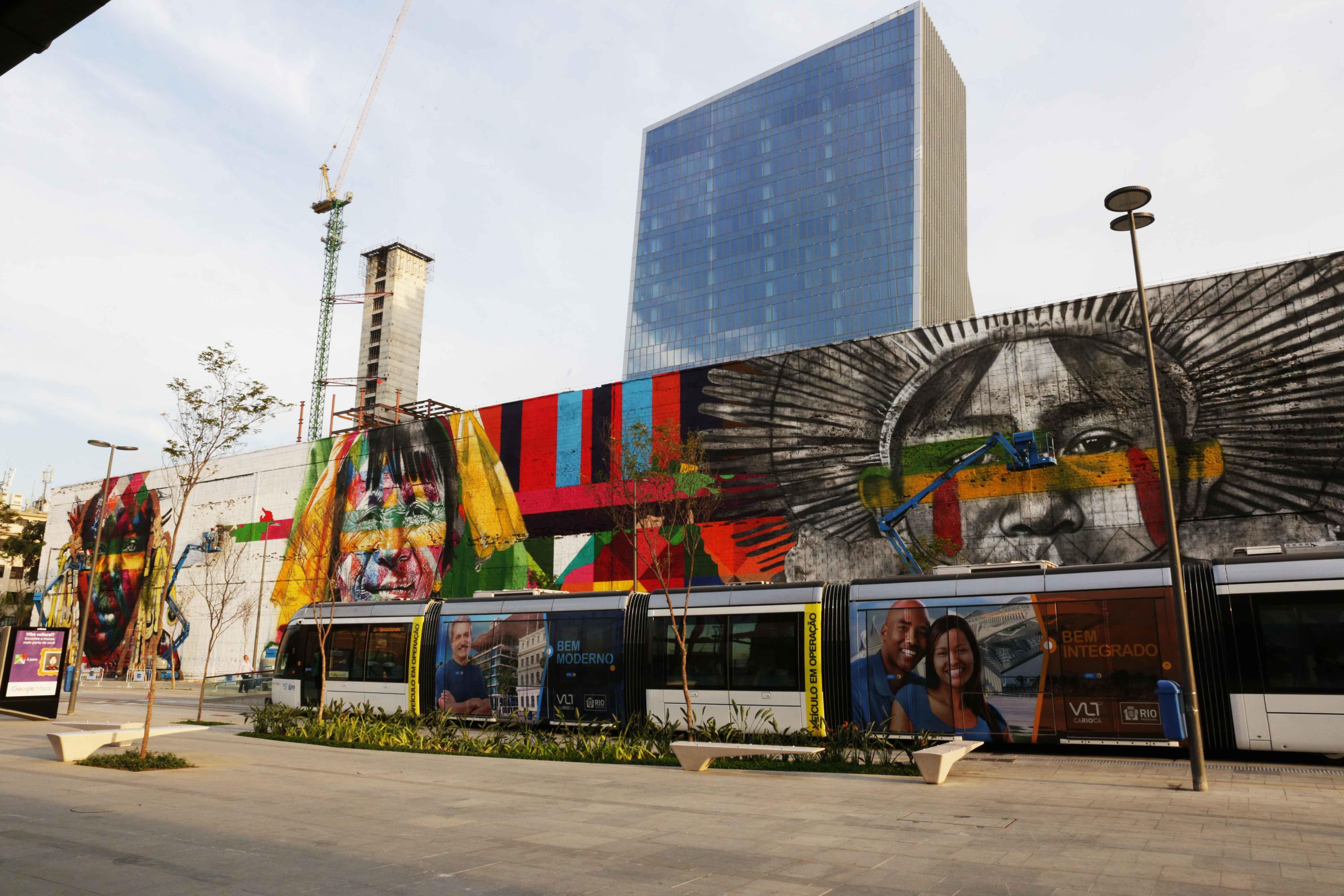 mural eduardo kobra rio de janeiro las etnias olimpiadas 2016 maior graffiti do mundo (10)