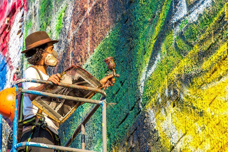 mural eduardo kobra rio de janeiro las etnias olimpiadas 2016 maior graffiti do mundo (12)