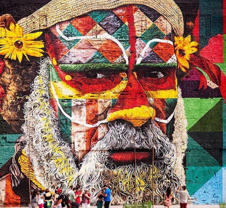 mural eduardo kobra rio de janeiro las etnias olimpiadas 2016 maior graffiti do mundo (4)
