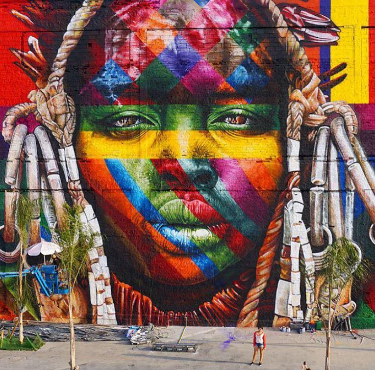 mural eduardo kobra rio de janeiro las etnias olimpiadas 2016 maior graffiti do mundo (9)