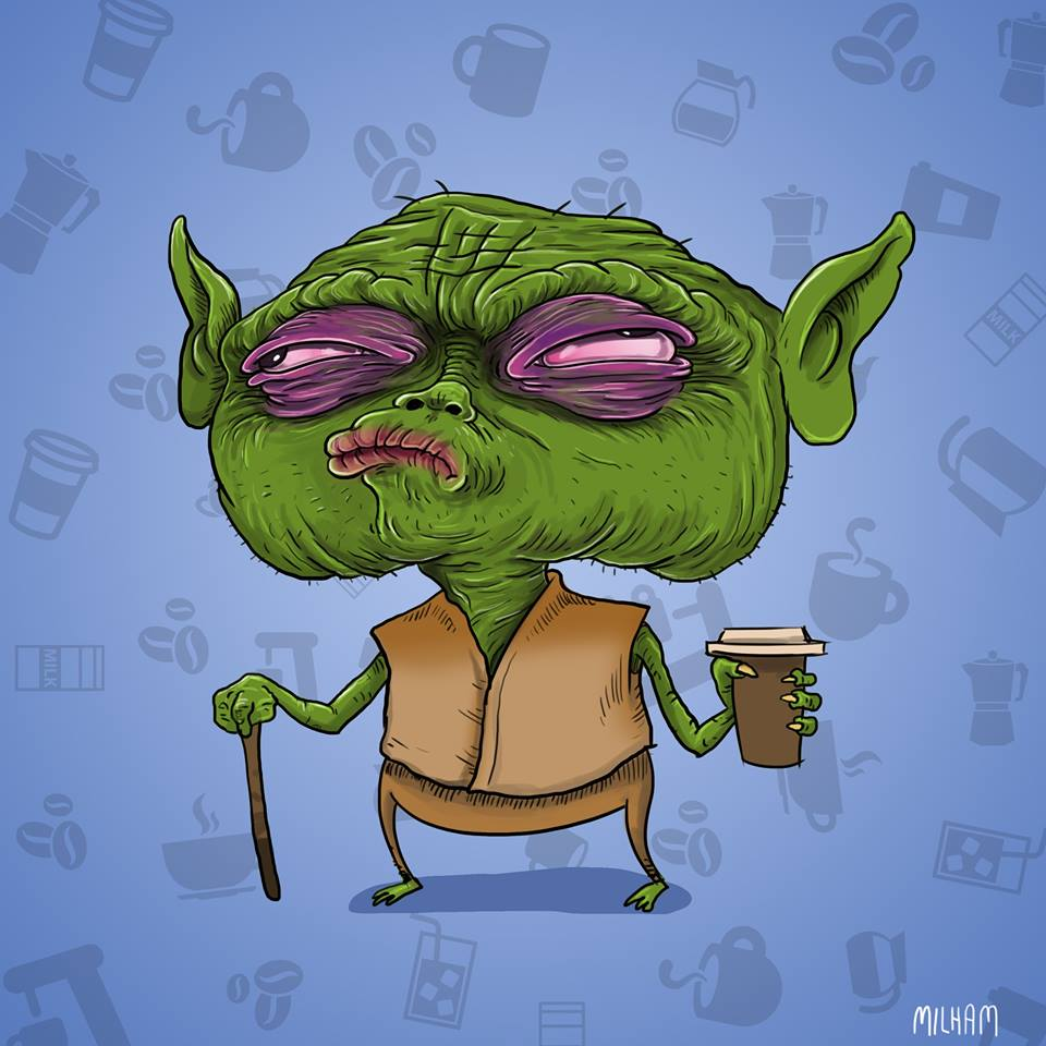 sam-milham-ilustrações-personagens-desenhos-ressaca-drogados-mestre-yoda-star-wars