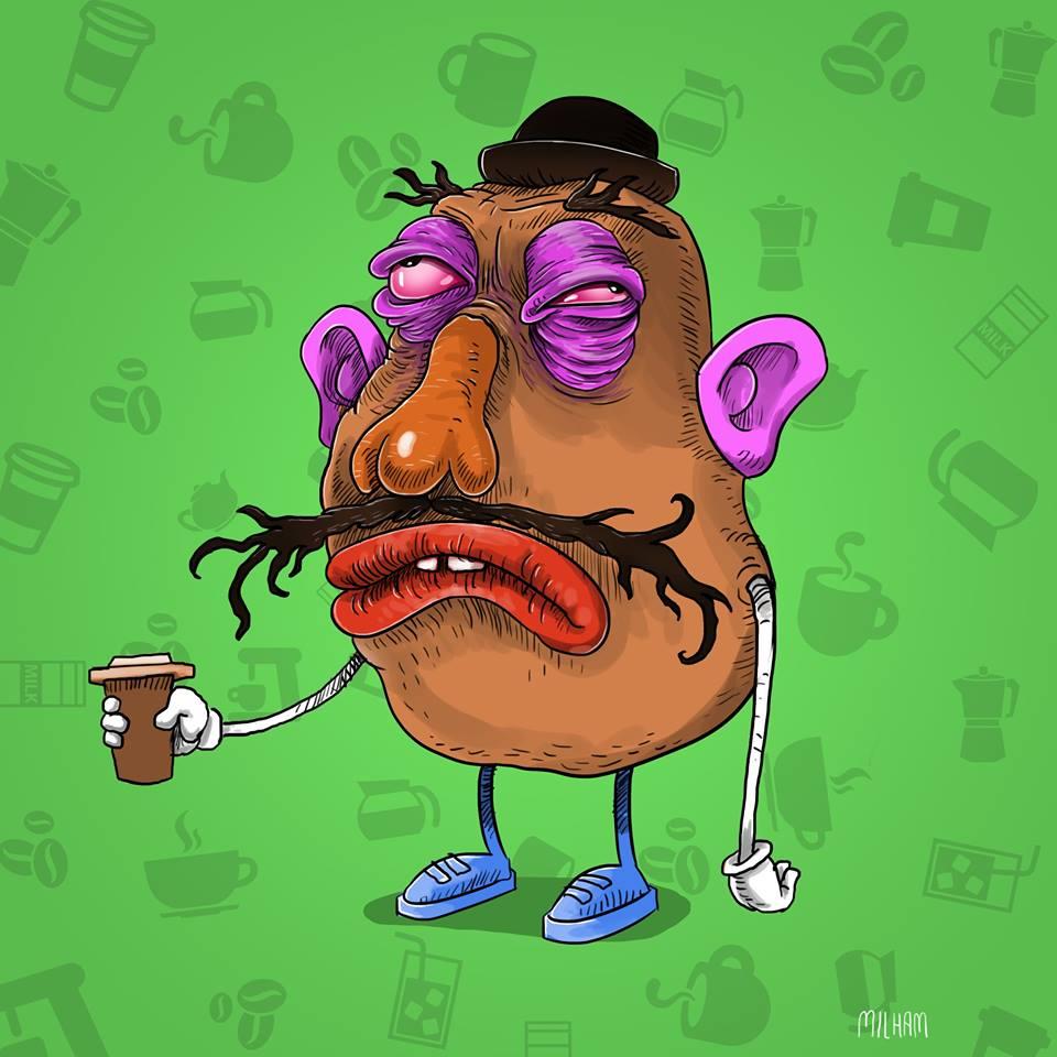 sam-milham-ilustrações-personagens-desenhos-ressaca-drogados-mr-potatoe-head