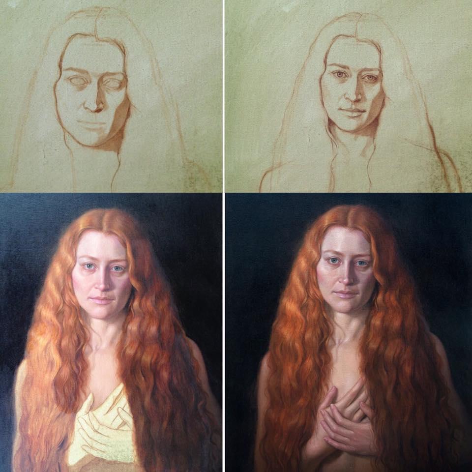 cuong nguyen pintura oleo pastel lapis realismo retrato dionisio arte (14)
