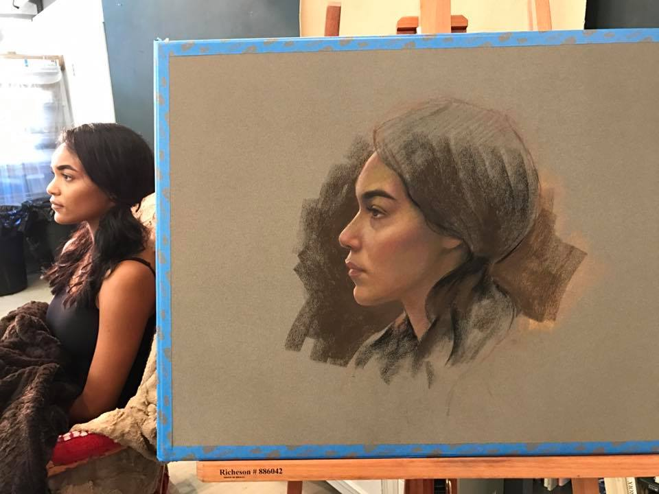 cuong nguyen pintura oleo pastel lapis realismo retrato dionisio arte (15)