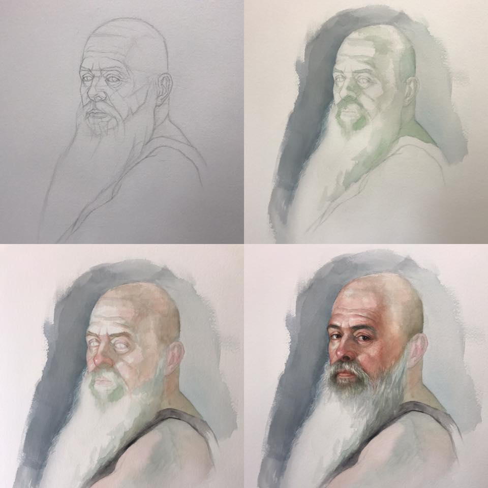 cuong nguyen pintura oleo pastel lapis realismo retrato dionisio arte (3)