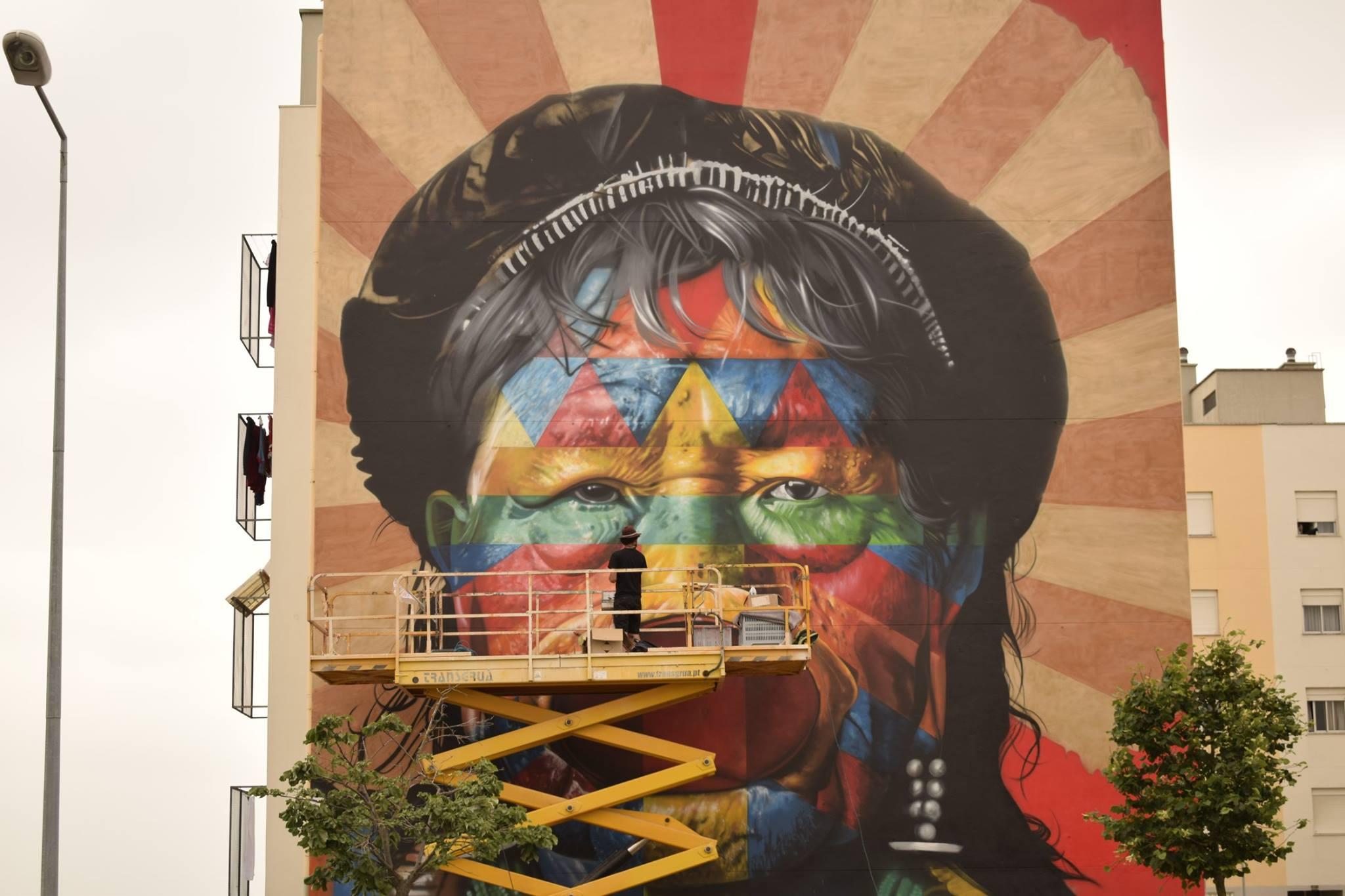 muro festival arte urbana marvila lisboa 2017 kobra