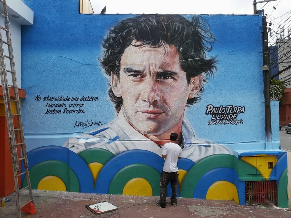 paulo terra graffiti realismo mural ayrton senna