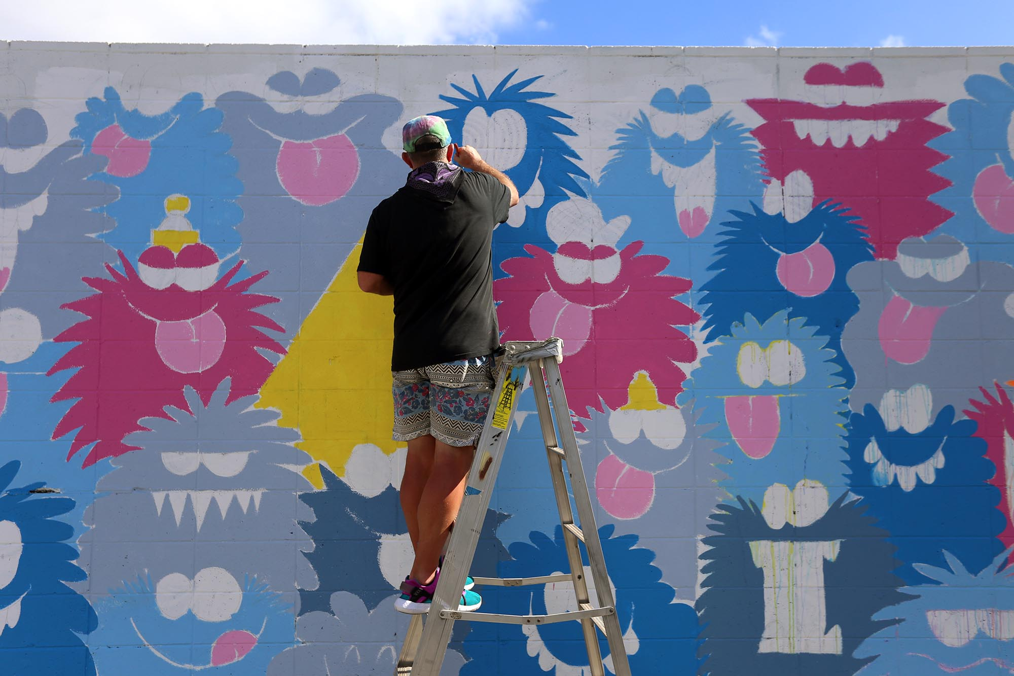 kevin lyons pow wow festival grafite mural 2016 (1)