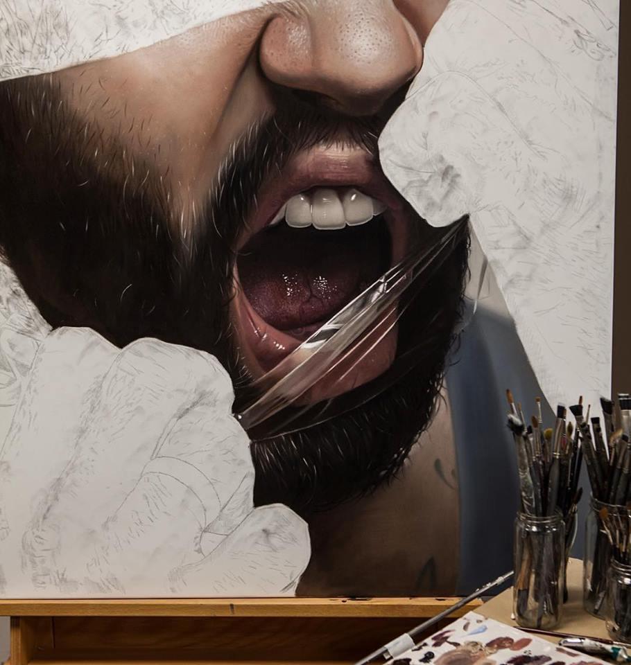 mike dargas hiper realismo surrealismo retratos tattoo dionisio arte (2)