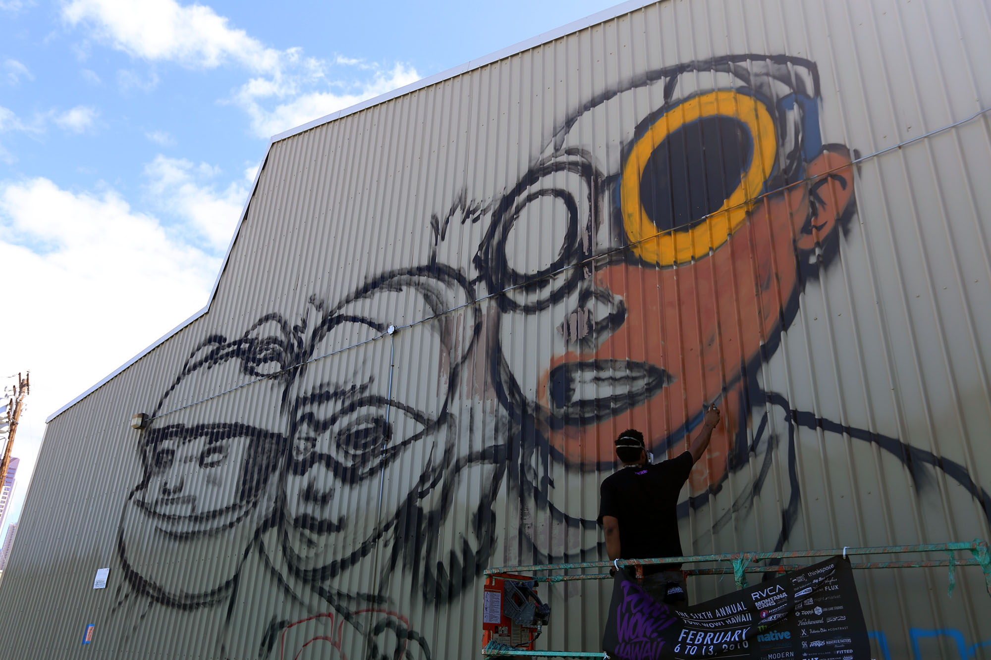 pow wow 2016 hawaii hebru brantley grafite mural dionisio arte (2)