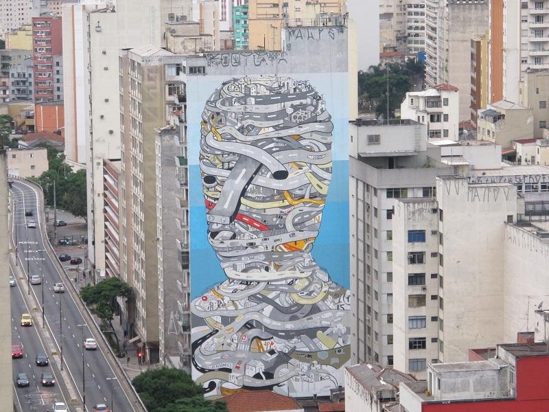 Trabalho do grafiteiro argentino TEC