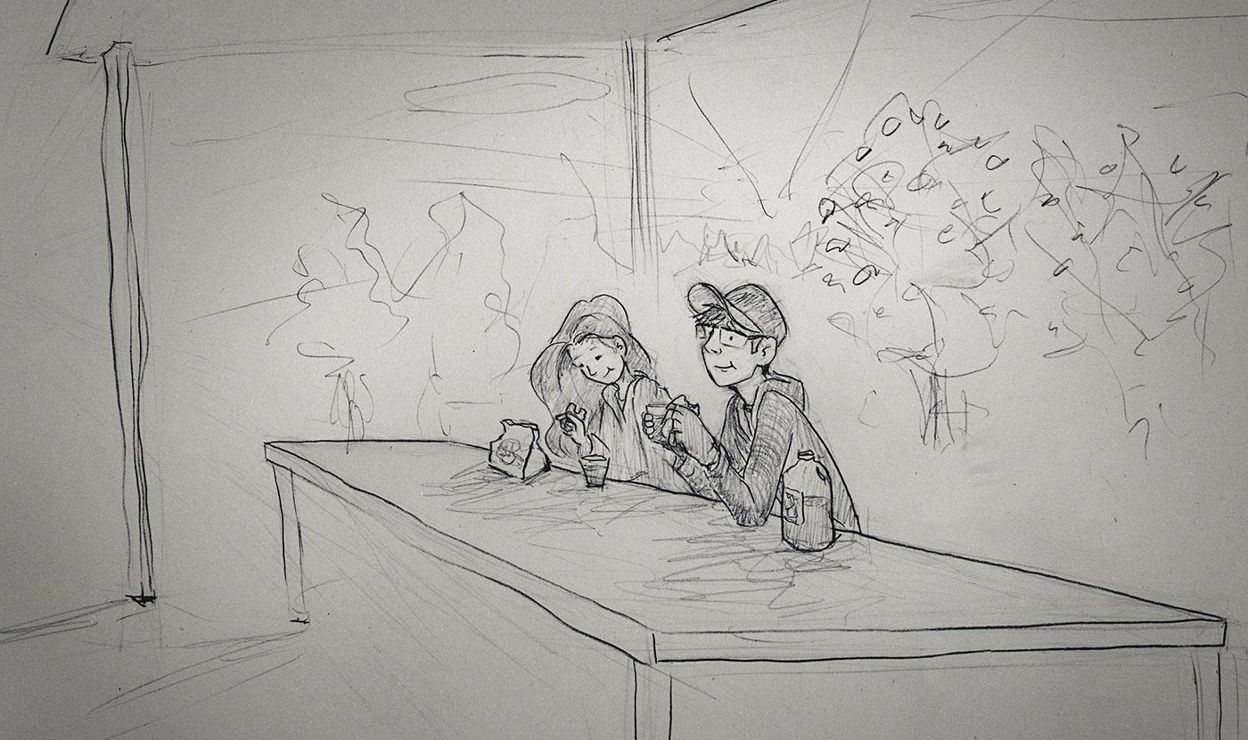 Curtis Wiklund desenhos Jordin amor casal romance-cider-mill5