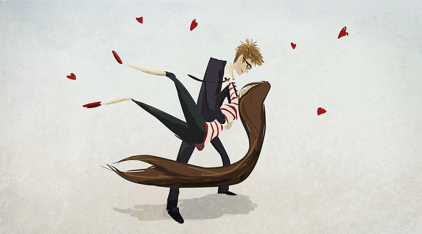 Curtis Wiklund desenhos Jordin amor casal romance-my-valentine