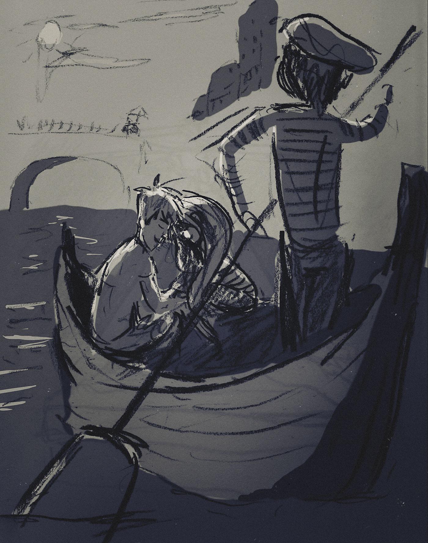 Anoitecer em Veneza, algum dia.