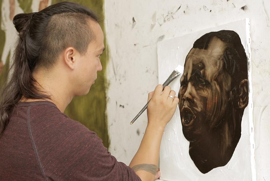 rafael hayashi pintura tinta a oleo arte contemporanea graffiti