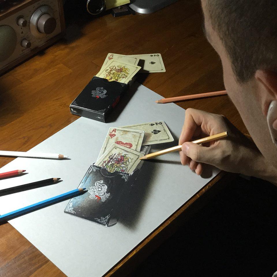 artista marcello Barenghi pintura desenho hiper realismo 3d (3)