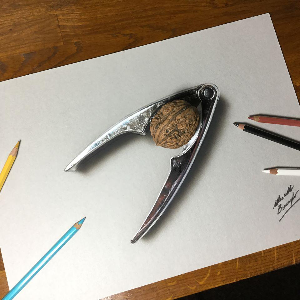 artista marcello Barenghi pintura desenho hiper realismo 3d (6)