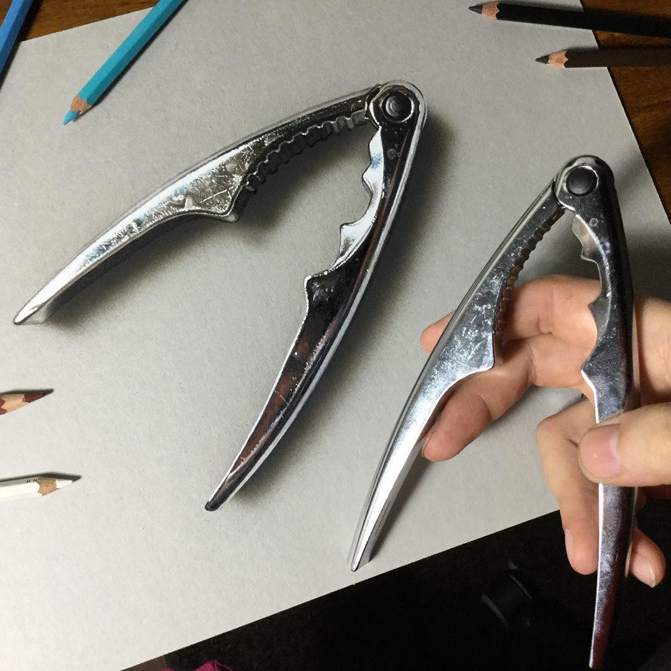 artista marcello Barenghi pintura desenho hiper realismo 3d (8)