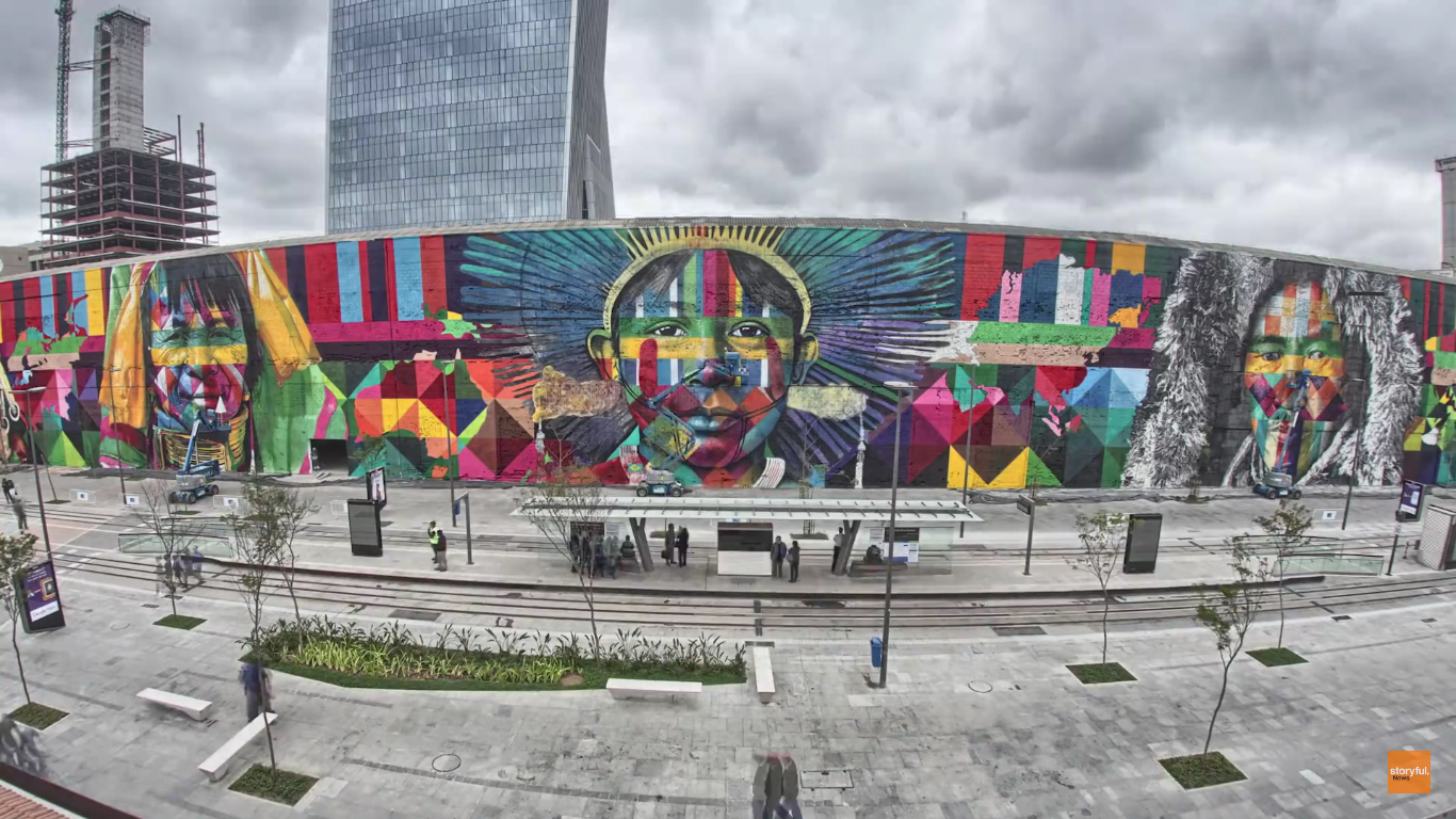 mural eduardo kobra rio de janeiro las etnias olimpiadas 2016 maior graffiti do mundo (1)