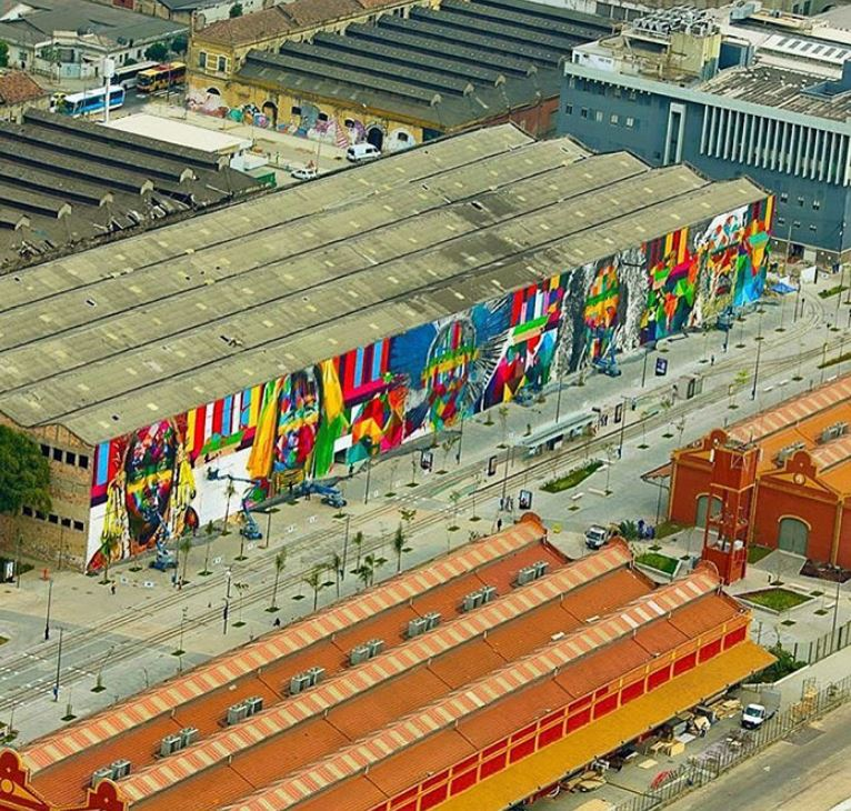 mural eduardo kobra rio de janeiro las etnias olimpiadas 2016 maior graffiti do mundo (11)