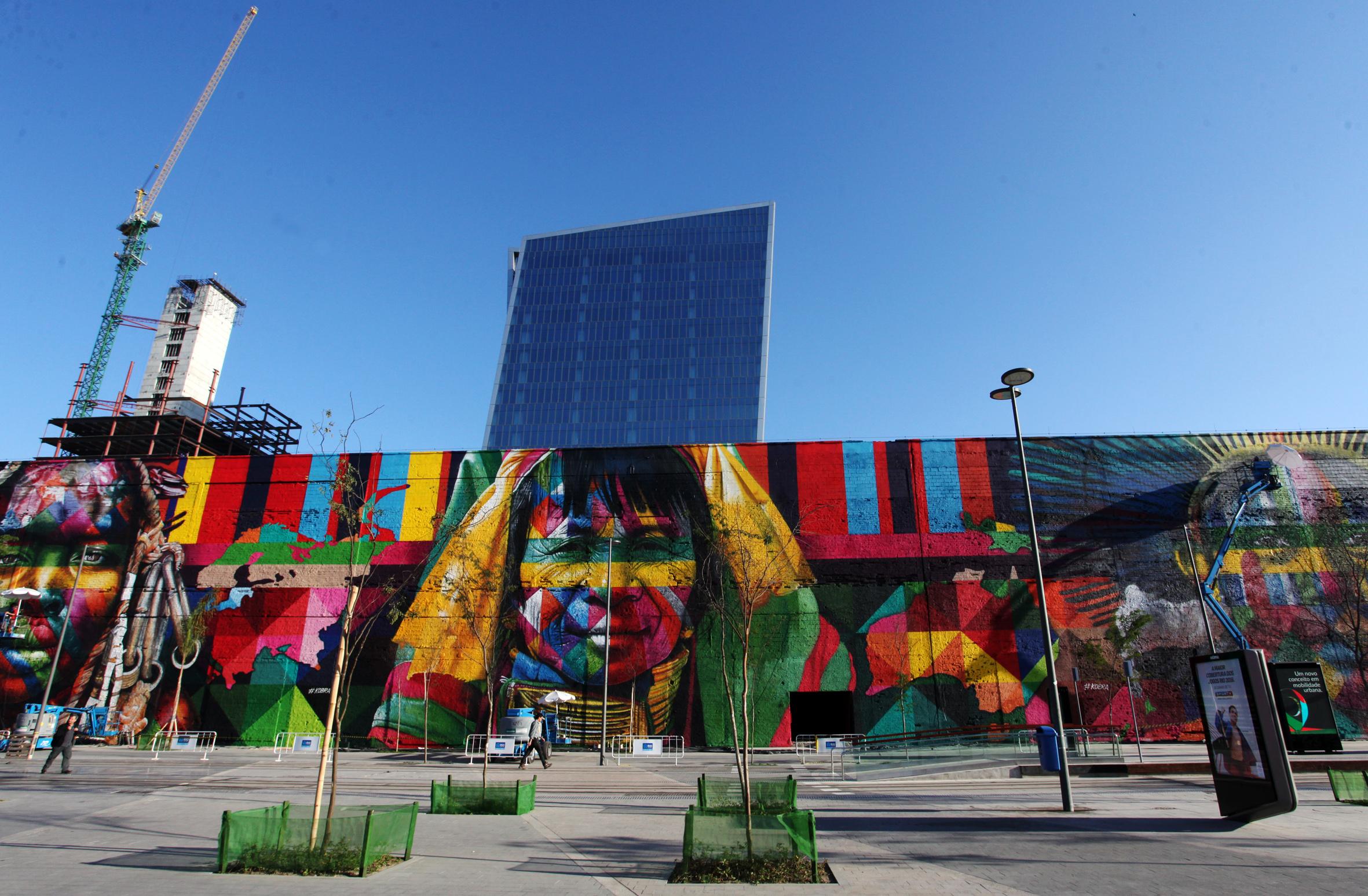 mural eduardo kobra rio de janeiro las etnias olimpiadas 2016 maior graffiti do mundo (2)