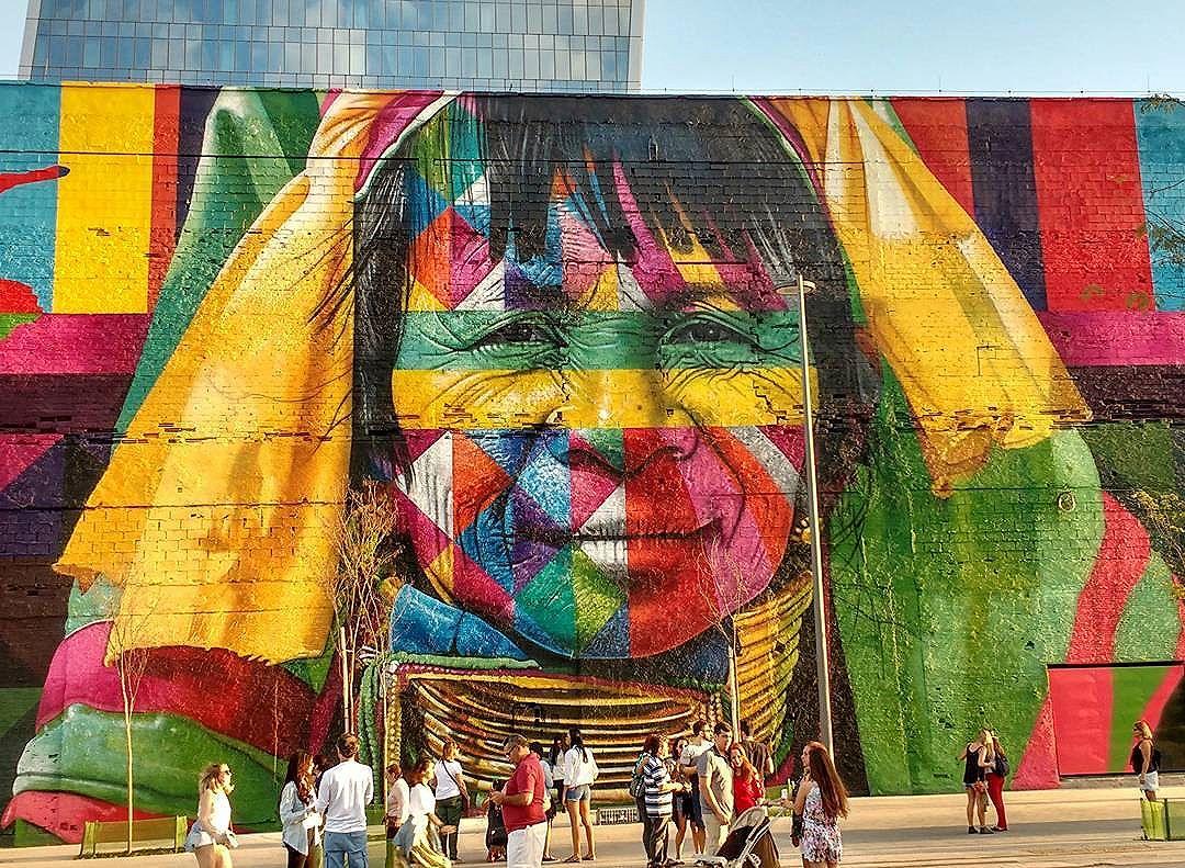 mural eduardo kobra rio de janeiro las etnias olimpiadas 2016 maior graffiti do mundo (6)