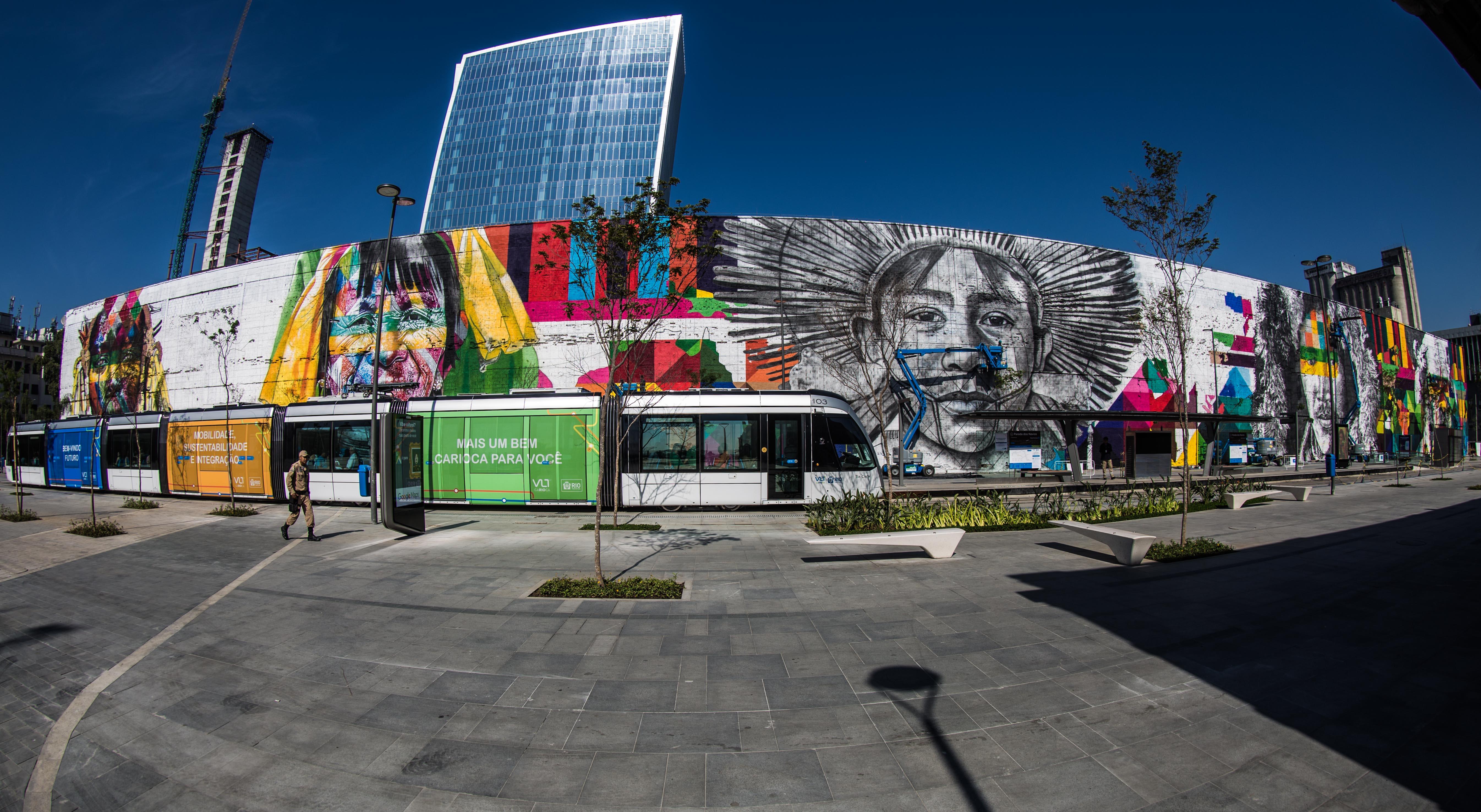 mural eduardo kobra rio de janeiro las etnias olimpiadas 2016 maior graffiti do mundo (8)