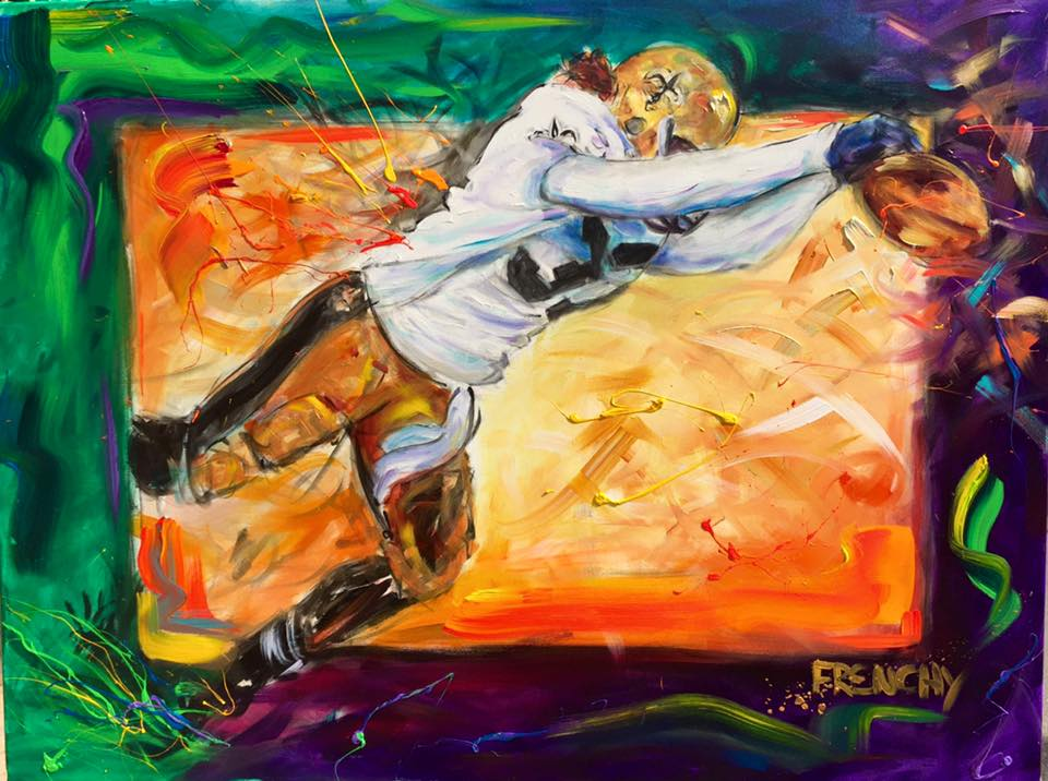 frenchy-live-painting-pintura-new-orleans-cores-monday-night-football-espn-2