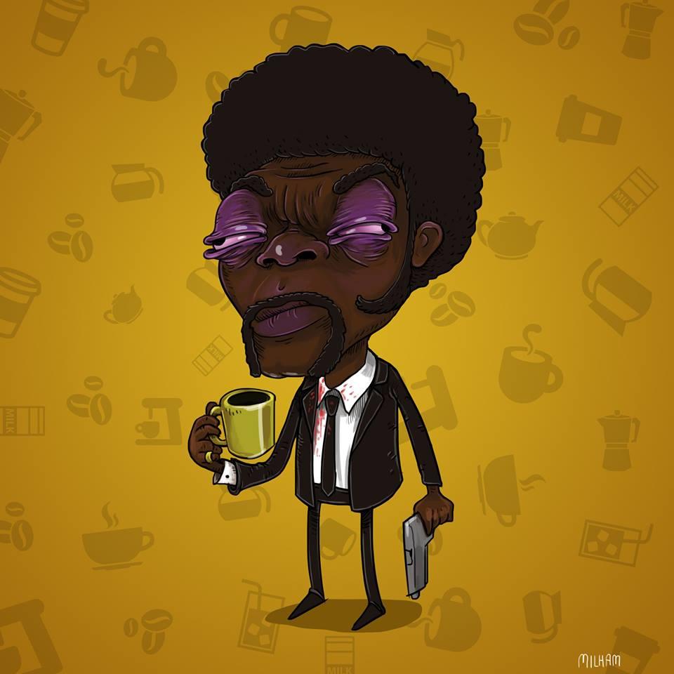sam-milham-ilustrações-personagens-desenhos-ressaca-drogados-samuel-l-jackson