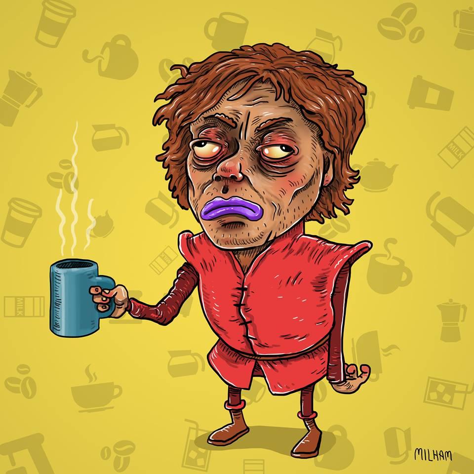 sam-milham-ilustrações-personagens-desenhos-ressaca-drogados-tyrion-lannister-game-of-thrones