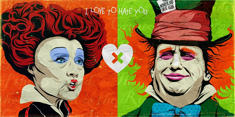 butcher-billy-ilustração-mash-up-pop-art-donald-trump-hillary-clinton-2
