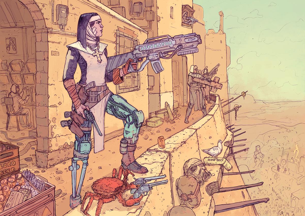SCI Fi Cyberpunk Ilustração 13 - Josan Gonzalez