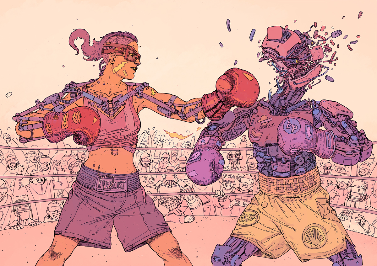SCI Fi Cyberpunk Ilustração 14 - Josan Gonzalez