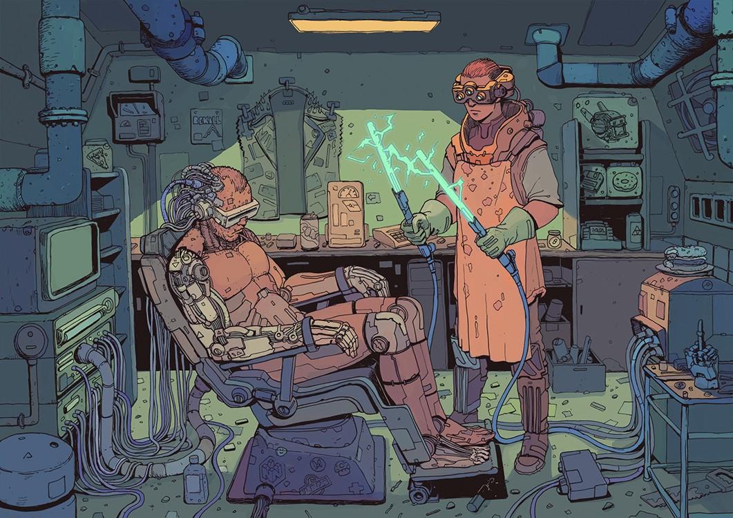 SCI Fi Cyberpunk Ilustração 03 - Josan Gonzalez